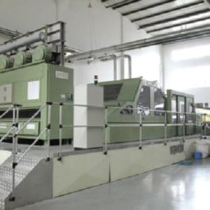 Fiber web half-cross spunlaced production line